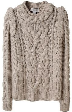 Pringle rope cable sweater, nice way to emphasize shoulders
