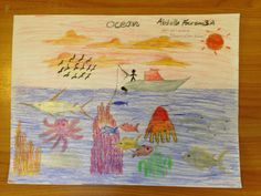 Abdulla Fauzan - Age 8 Drawing Competition, Ocean Day, Marine Conservation, Oceans Of The World, Age, Drawings, School, Painting, Painting Art