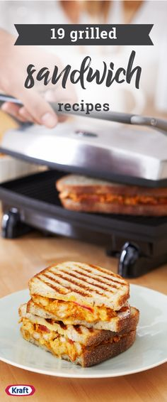 """19 Grilled Sandwich Recipes – Try grilled sandwich recipes for a tasty lunchtime dish inspiration! We've got a pretty wide variety of flavor combinations to enjoy.  Plus, some don't even require typical """"sandwich"""" bread. (We're looking at you, hot dogs and hamburger recipes!)"""