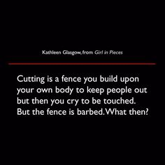 Kathleen Glasgow from Girl in Pieces
