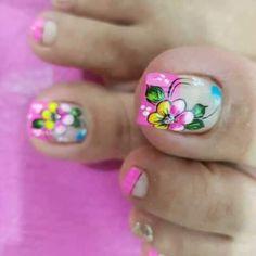 Cute Acrylic Nails, Toe Nail Art, New Nail Art Design, Feet Nails, Toe Nail Designs, Hello Everyone, Lily, Pedicures, Divas