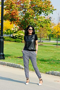 Style-Delights: Fall Dressing: Houndstooth And Mixed Matrials