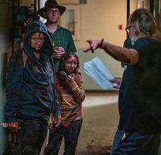 SEASON 10 EP.2 ON SET - SAM MORTON AND SCARLET BLUM Judith Grimes, Carl Grimes, Rick And Carl, King Ezekiel, Dead King, Walking Dead Cast, Daryl Dixon, On Set, Behind The Scenes
