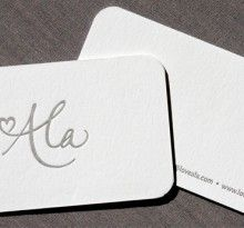Really cute & simple business cards