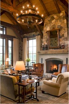 Rustic living room c