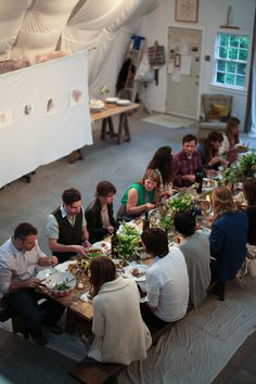 Dinner in the Atelier : Anthology Magazine Shoot. photo by amy dickerson. styling by jenn elliott blake,