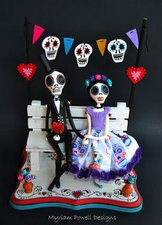 Day of the dead  Dia de los muertos  Couple by MyriamPowellDesigns