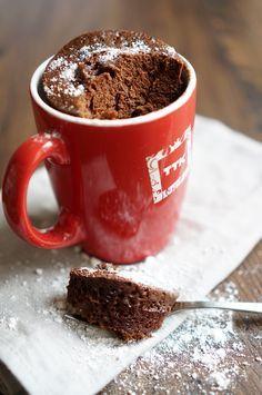 Шоколадный кекс в чашке за 3 минуты, пошаговый фото рецепт