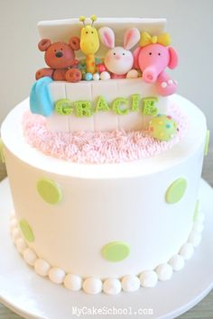 Cute and simple Toy Box Cake Topper from member cake video tutorial section. Perfect for young birthday cakes and baby showers! Cool Birthday Cakes, Birthday Cake Girls, Birthday Box, Fancy Cakes, Cute Cakes, Fondant Cakes, Cupcake Cakes, Fondant Cake Toppers, Bolo Floral