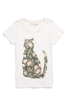 Free shipping and returns on Miss Me Graphic Cat Tee (Big Girls) at Nordstrom.com. Sweet flowers pattern an adorable feline on a supersoft cotton short-sleeve tee.
