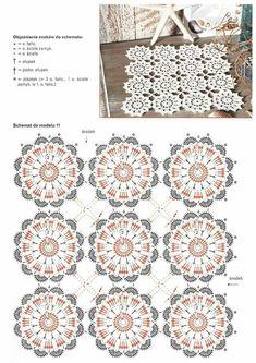 Transcendent Crochet a Solid Granny Square Ideas. Inconceivable Crochet a Solid Granny Square Ideas. Crochet Motif Patterns, Crochet Borders, Crochet Diagram, Crochet Chart, Crochet Squares, Crochet Table Runner, Crochet Tablecloth, Crochet Doilies, Crochet Flowers