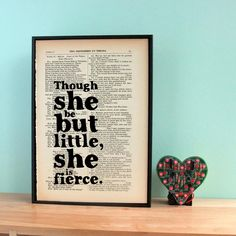 For a friend of smaller stature, this sweet Vintage Shakespeare Quote