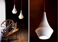 """Porcelain pendant """"Story"""" by Vibeke Skar & Ida Noemi Vidal."""