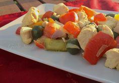 Ricetta:+Bocconcini+di+pollo+con+peperoni,+olive+e+curry