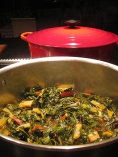 Horta (Greek Greens).  Gluten-free, dairy-free, vegan, clean.  MMMMM :)