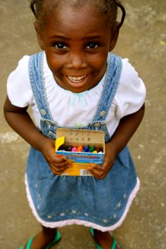 LIBERIA! You don't nee much to be happy.. Crayons, Monrovia, Liberia. #Liberia