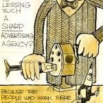 """""""Why is Lessing such a sharp advertising agency?"""" Vintage Lessing-Flynn ad from the 1960's. Used as a direct mailer and placed as an ad in small pubs around Des Moines."""