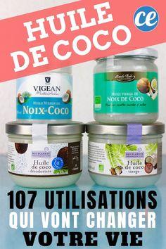 107 utilisations et bienfaits de l'huile de noix de coco pour la santé, la maison, la cuisine, l'alimentation. Homemade Cold Remedies, Vaseline, Diet And Nutrition, Clean House, Coconut Oil, Natural Remedies, Herbalism, Beauty Hacks, Skin Care