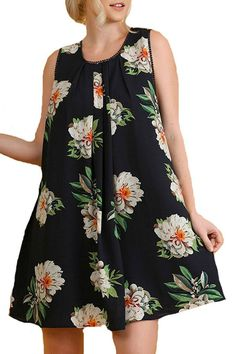 ea8b451dc6fd4 Umgee USA Women s Plus Size Sleeveless Floral Print Dress