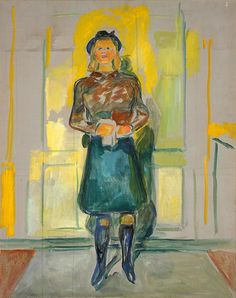 urgetocreate: Edvard Munch, Visiting at Ekely, 1942, Oil on canvas, 89 x 73 cm, Munch Museum