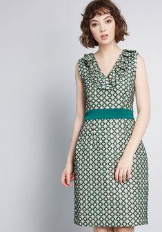 e637abcc2943 ModCloth x Anna Sui Admiring Eyes Sheath Dress in Green Diamonds Anna Sui  Dresses, Fabulous