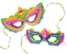 Fancy Masks Perler Project Pattern