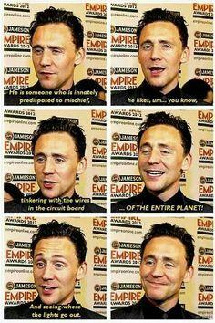 Best description of Loki I've seen in awhile !!