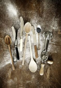 Ideas For Kitchen Utensils Photography Baking Tools Kitchen Utensils, Kitchen Dining, Kitchen Goods, Kitchen Stuff, Messy Kitchen, Cooking Utensils, Kitchen Gadgets, Casa Magna, Food Photography Props