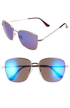 fb89e47475  Pisces  58mm Square Aviator Sunglasses