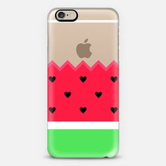 I Love Watermelon Transparent iPhone 6 Case by Organic Saturation | Casetify. Get $10 off using code: 53ZPEA