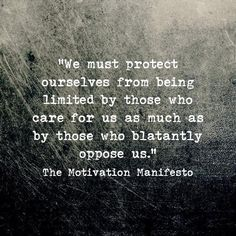 """When people who love you keep saying """"Be careful. Don't take risks."""" Bc they don't want to see you hurt. But sometimes that advice limits you makes you think small play it safe fail to follow your dreams. So be sure to read the Motivation Manifesto #quotes"""