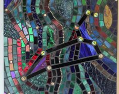 Mosaic Stained Glass Sea Turtles Caretta Ocean Sea