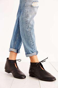 Joe's Jeans Leather Tie Bootie
