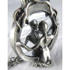 Mirror Lady Death Necklace