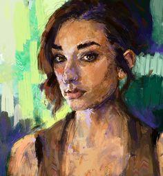 """Self Portrait Digital 1854x2007 pixels"""