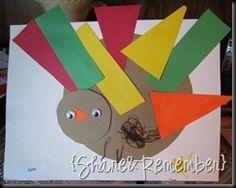 Our shape turkeys as seen on Teach Preschool. Related PostsNoodle ShapesTriangles {shape activities}Turkey Dinner PrintableColorful Handprint Turkeys Share!008130