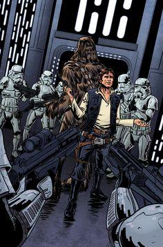 Han Solo & Chewbacca - Star Wars