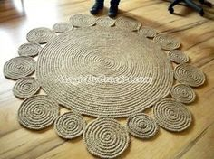 Handmade Playful Jute Rug 5ft Round