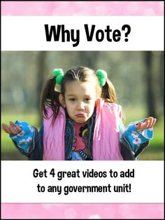 Voting is the core of our democracy, yet the United States ranks toward the bottom of all democracies in the number of citizens who actually vote. Get 4 terrific voting videos to add to your government unit and motivate your students. They may even be able to motivate their parents to vote!