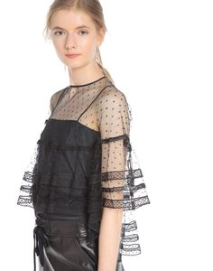 RED Valentino Point D'esprit Tulle Poncho - Top Women | RED Valentino E-Store