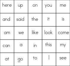 Free sight word bingo cards (first 100 broken in sets of Very adaptable Sight Word Bingo, Sight Word Practice, Sight Word Activities, Learning Activities, Teaching Ideas, Beginning Of Kindergarten, Kindergarten Reading, Teaching Reading, Site Words