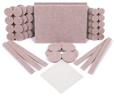 SIMALA Premium Furniture Pads 124 Pack 60 Heavy Duty Self Stick Felt Furniture Feet To Protect Hardwood Floors 64 Noise Dampening Clear Rubber Bumpers *** Read more at the image link. Moving Furniture, Furniture Legs, Furniture Hardware, Tile Stickers Kitchen, Stair Stickers, Sticks Furniture, Chair Leg Floor Protectors, Multipurpose Furniture, Felt Sheets