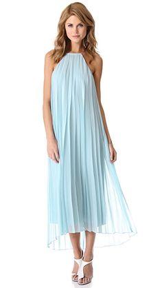Tibi Плиссированное шифоновое платье