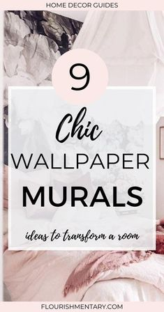 Who doesn't want a room that would make you stop mid scroll? Eye catching murals are one of simplest ways to take a boring space to the next level. That's why I've rounded up 9 of the coolest wallpaper mural ideas you can use to easily transform any space in your home! Bold Wallpaper, Print Wallpaper, Wallpaper Ideas, Mural Art, Murals, Wall Decor Crafts, Mural Ideas, Interior Design Tips, Bold Prints