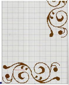 Família e Arte: graficos Cross Stitch Boarders, Cross Stitch Patterns, Filet Crochet Charts, Flower Tea, Bargello, Loom Patterns, Cross Stitch Embroidery, Needlepoint, Retro