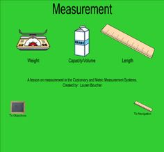 Measurement - Topics discussed include the history of measurement, customary and metric measurement systems, and converting from one unit of measurement to another. Resource type: SMART Notebook lesson Subject: Mathematics Grade: Grade 3, Grade 4, Grade 5