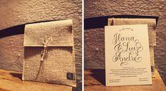 Convite de casamento rústico - Casamento Ilana e Luiz André