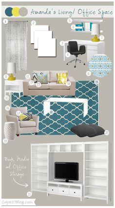 Mood Board: Amanda's Living/ Office Space | Cape 27