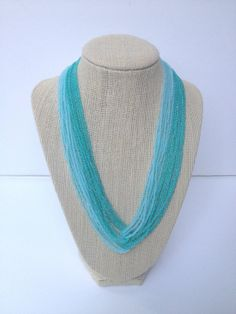 Ombre turquoise necklace ombre necklace aqua by StephanieMartinCo, $30.00