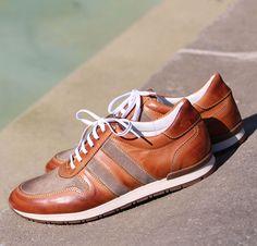 Jules & Jenn - Les Sneakers en cuir cognac #fashion #mode #durable #baskets #men • www.julesjenn.com